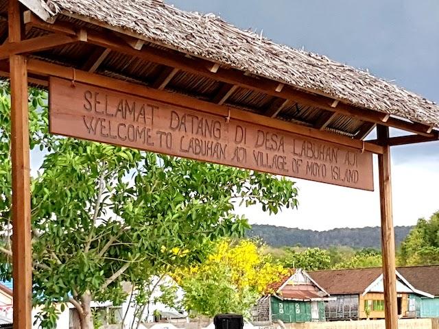 Welcome to Labuan Aji sign